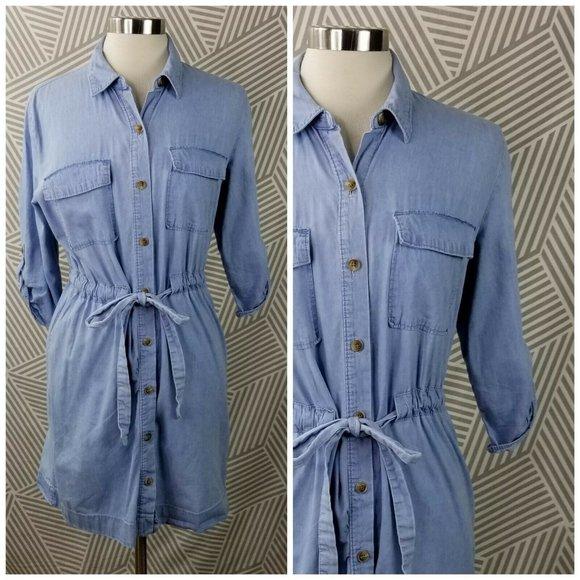 Ana size Medium Denim Shirt Dress Jean western